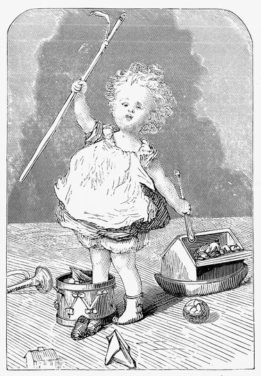 From an 1882 book 'Golden Rays'; image sourced from the Reusable Art website