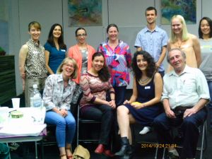 A picture of the lovely people who came to my last workshop - interesting and varied backgrounds and skill sets