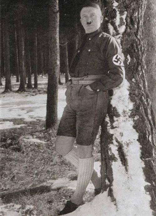 Even in those shorts, Hitler remains a personification of evil and so much more than a mere asshole.  (Image sourced from oldpicsarchive.com)