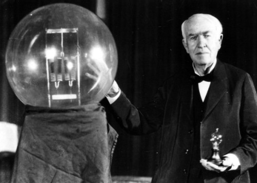 Thomas Edison and his light bulb