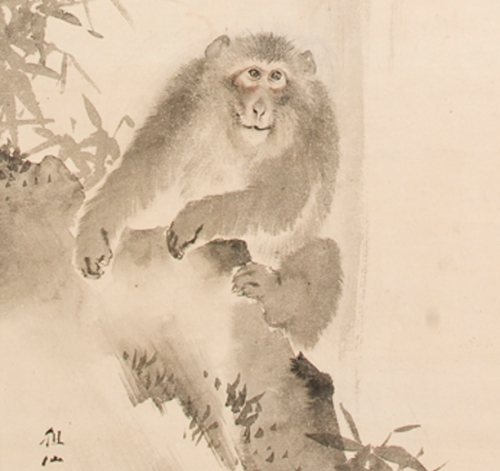 Monkey and Wterfall Mori Sosen 1747-1821