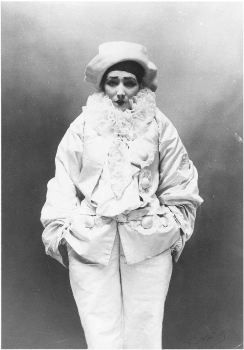 Sarah Bernhardt as Pierrot