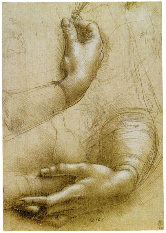 leonardo_da_vinci_studies of hands